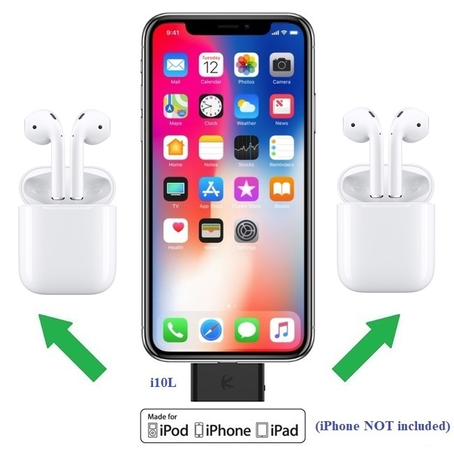 Kokkia I10l Plus 2 Apple Airpods Digital Lightning Bluetooth Splitter Plus 2 Sets Brand New Apple Airpods Bluetooth Stereo Headsets